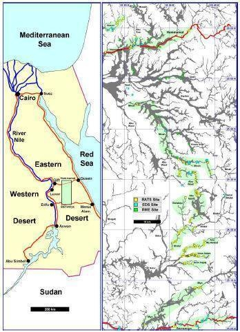 Desert Boats Home Page - Map of egypt eastern desert